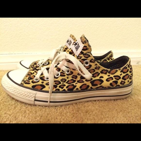 31f0a654e13d Converse Shoes - Limited Edition Velvet Leopard Converse (New)