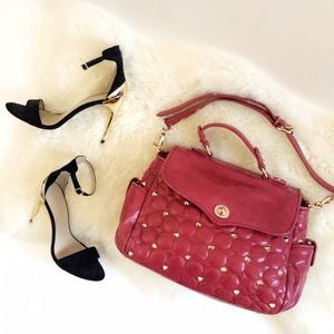 Rebecca Minkoff Red Studded Satchel with Strap
