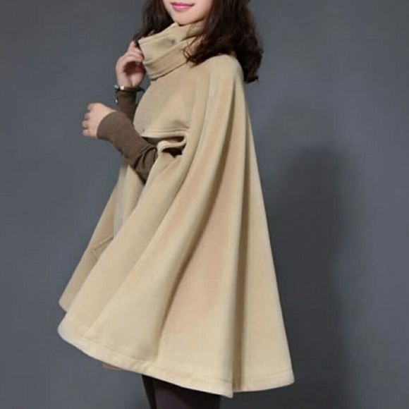 48% off Jackets & Blazers - 🎉PRICE DROP🎉Camel Cape Wool Cape ...