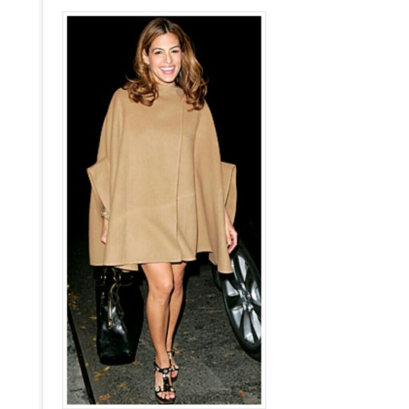 48% off Jackets &amp Blazers - ?PRICE DROP?Camel Cape Wool Cape