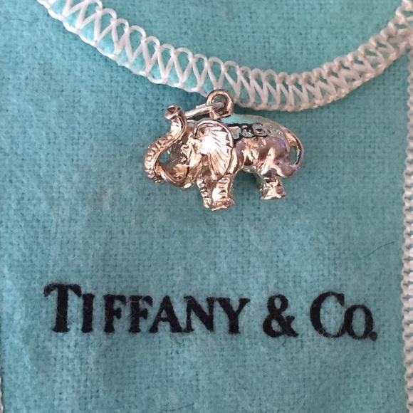 bc06a26b7ae93 Auth Vintage Tiffany & Co Elephant Pendent