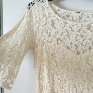 Free people lace dress worn once! Size 10
