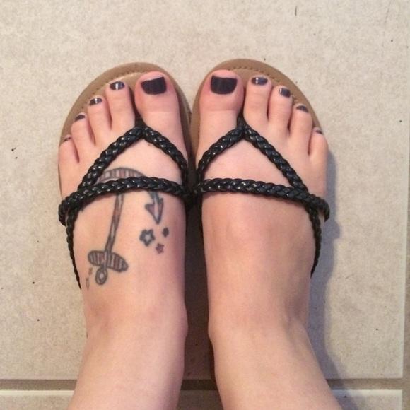 c5252a0884ef Charlotte Russe Shoes - Charlotte Russe braided straps flip flops