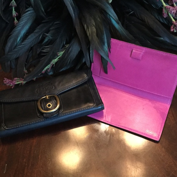 coach bags blkpink bleecker wallet check register poshmark