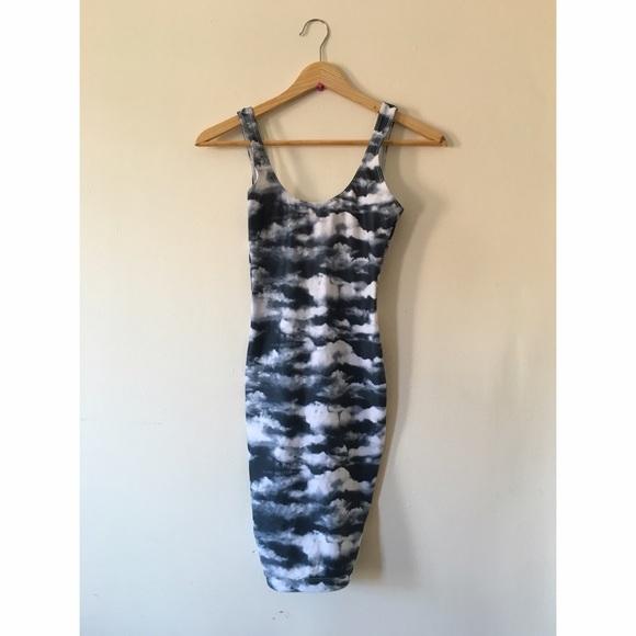 American Apparel Dresses   Skirts - American Apparel Cloud Print Nylon Body  Con Dress f7402d573