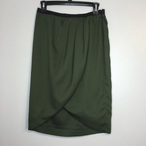 Army Green classic wrap skirt
