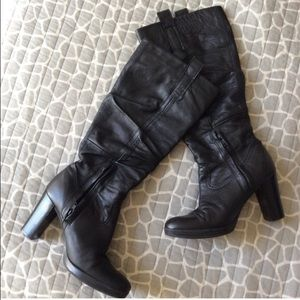 Matisse Shoes - ❤ | black leather slouch boots |