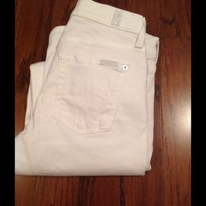 7 for all Mankind Denim - 7 forall Mankind The Skinny White Jeans