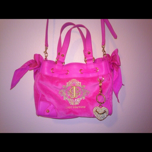 45961ea2f9ebac Juicy Couture Handbags - Juicy Couture Pink Snowflake Mini Daydreamer Bag