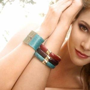 Jewelry - 🎉Snakeskin hinged bangle