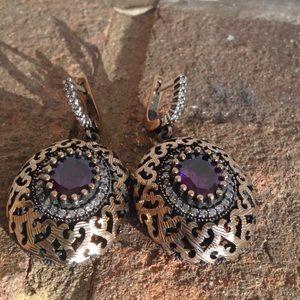 Jewelry - AMETHYST WHITE TOPAZ EARRINGS