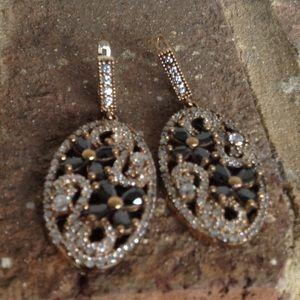 Jewelry - GENUINE AMETHYST WHITE TOPAZ EARRINGS