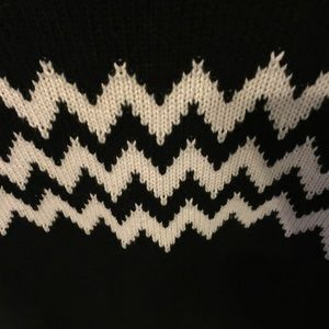 Eternal Sunshine Creations Sweaters - Black and White Sweater with zig zag detail