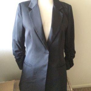 Audrey ruched 3/4 sleeve jacket blazer suit coat