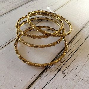 Jewelry - Layer bangle bracelets ( set of 4 )