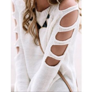 Chic cut sleeve sweater BACK IN STOCK LIMITED