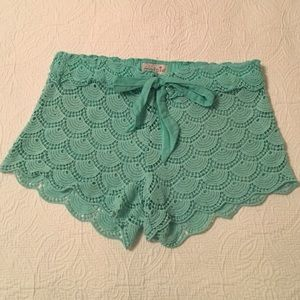 Mudpie cotton lace cover-up shorts