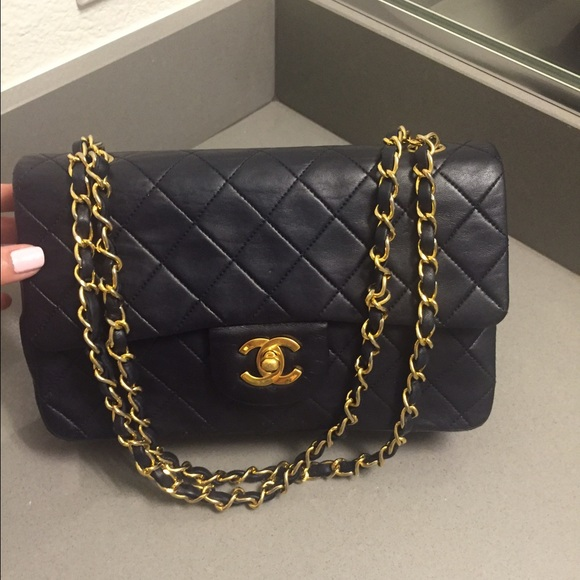 55680f33dddc19 CHANEL Bags | Sold On Tradesy Blacknavy Leather 255 | Poshmark