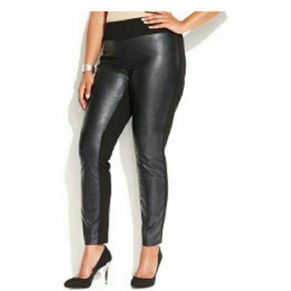 0347def9de9b4 INC International Concepts Pants | Plus Size Faux Leather Pull On ...