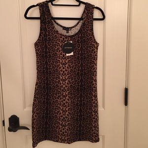 Cotton On fitted leopard dress in size large