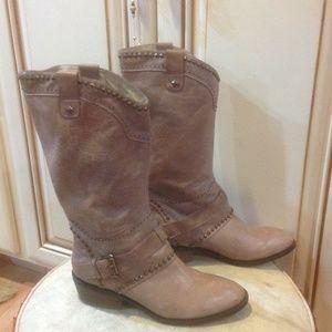 B. Makowsky nude knee high boots S z 8.5