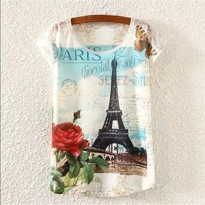 HP 2/27 Eiffel Tower T-shirt. NWOT