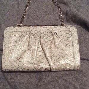 Gold and Ivory detail Elaine Turner clutch/WOC