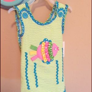 Other - 18 month Blue and Green Ruffle Dress!New with tags