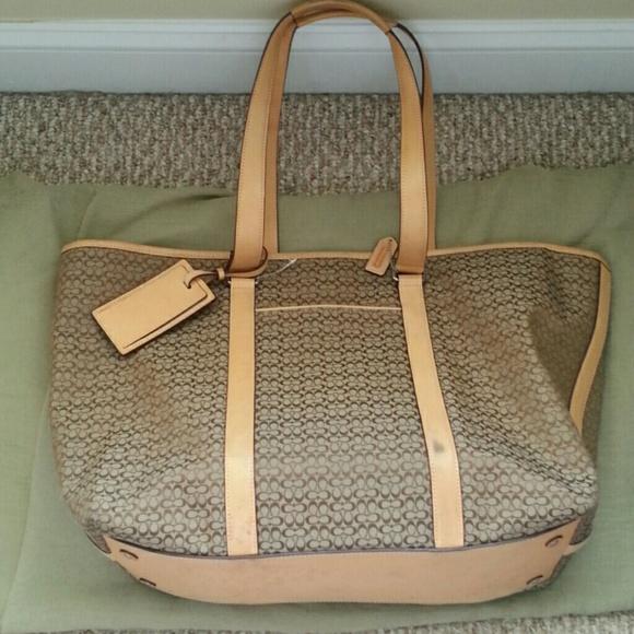 84% off Coach Handbags - Coach Classic C Extra Large weekend bag ...