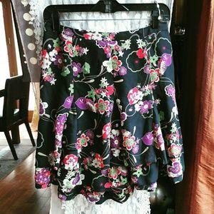 LOFT Vintage Floral Print Skirt