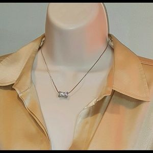 Bling gold necklace