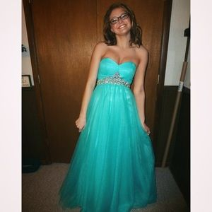 Cecily Brown Teal Prom Dress | Poshmark