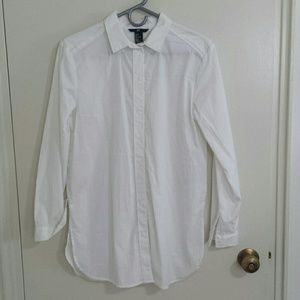 H&M Tops - Oversized white button down