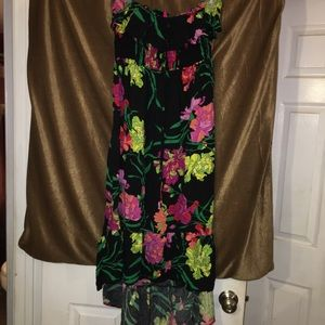 Plus size tube top dress