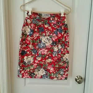 Sexy denim Vintage floral high waisted skirt.