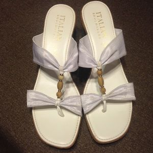 Italian Shoemakers Shoes - White Italian sandals!!