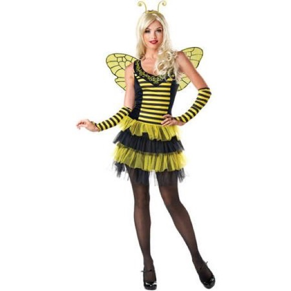 LIKE NEW SEXY BUMBLE BEE LADIES COSTUME  sc 1 st  Poshmark & Halloween Costume Accessories | Like New Sexy Bumble Bee Ladies ...