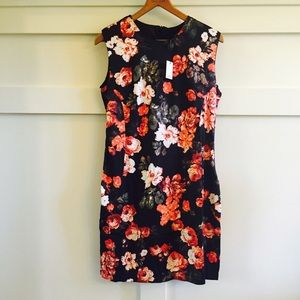 = SALE = Choies black floral mini dress NWT