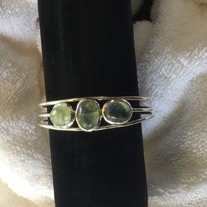 Jewelry - Well stated bangle set with prehnite