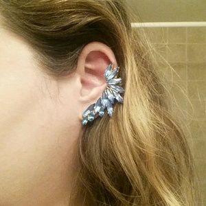8 Other Reasons Jewelry - Blue crystal ear climbers