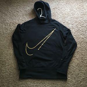 Nike Sweaters - Nike therma-fit hoodie gold swoosh