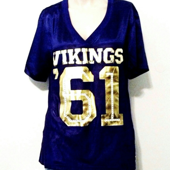 Victoria s Secret NFL Pink Vikings Football Jersey 715158a93