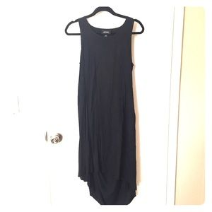 Monki Black hi-Lo dress