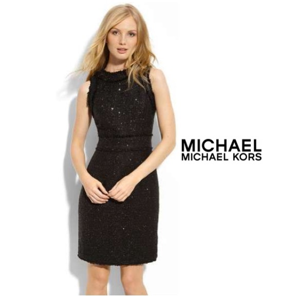 942654fd3ab MICHAEL Michael Kors Fringe Tweed Dress. M 562bf9707eb29f7050007ac1