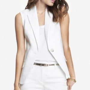 Express Double Weave Suit Vest
