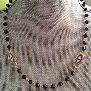 Jewelry - Hamsa Necklace Rosary Chain Hamsa Amulet Necklace