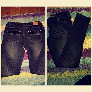 Denim - Dark denim skinny jeans