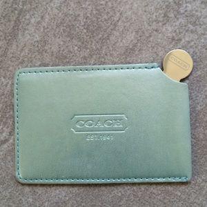 Authentic coach pocket mirror