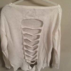 Cozy white knit sweater