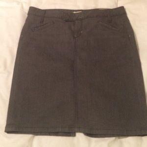 Gap Jeans Gray Skirt